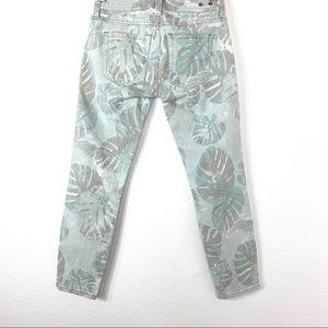 CAbi 227 Paradise Cropped Palm Leaf Jeans